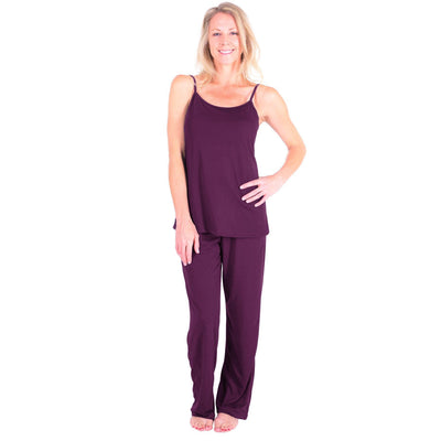 WOMEN'S MOISTURE WICKING CAMI LONG PANT PAJAMA SET - Cool-jams