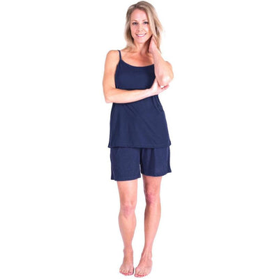 WOMEN'S MOISTURE WICKING CAMI SHORTY PAJAMA SET - Cool-jams