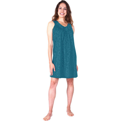 WOMEN'S MOISTURE WICKING GATHERED TANK NIGHTGOWN - Cool-jams