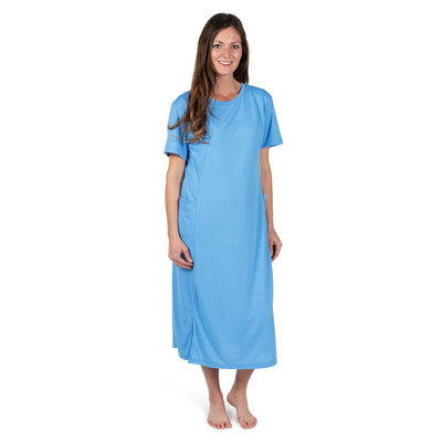 WOMEN'S MOISTURE WICKING LONG PANEL NIGHTSHIRT WITH POCKETS - Cool-jams