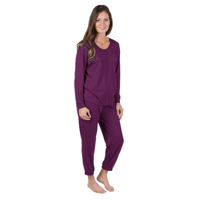 WOMEN'S MOISTURE WICKING LONG SLEEVE CUFFED PAJAMA SET - Cool-jams