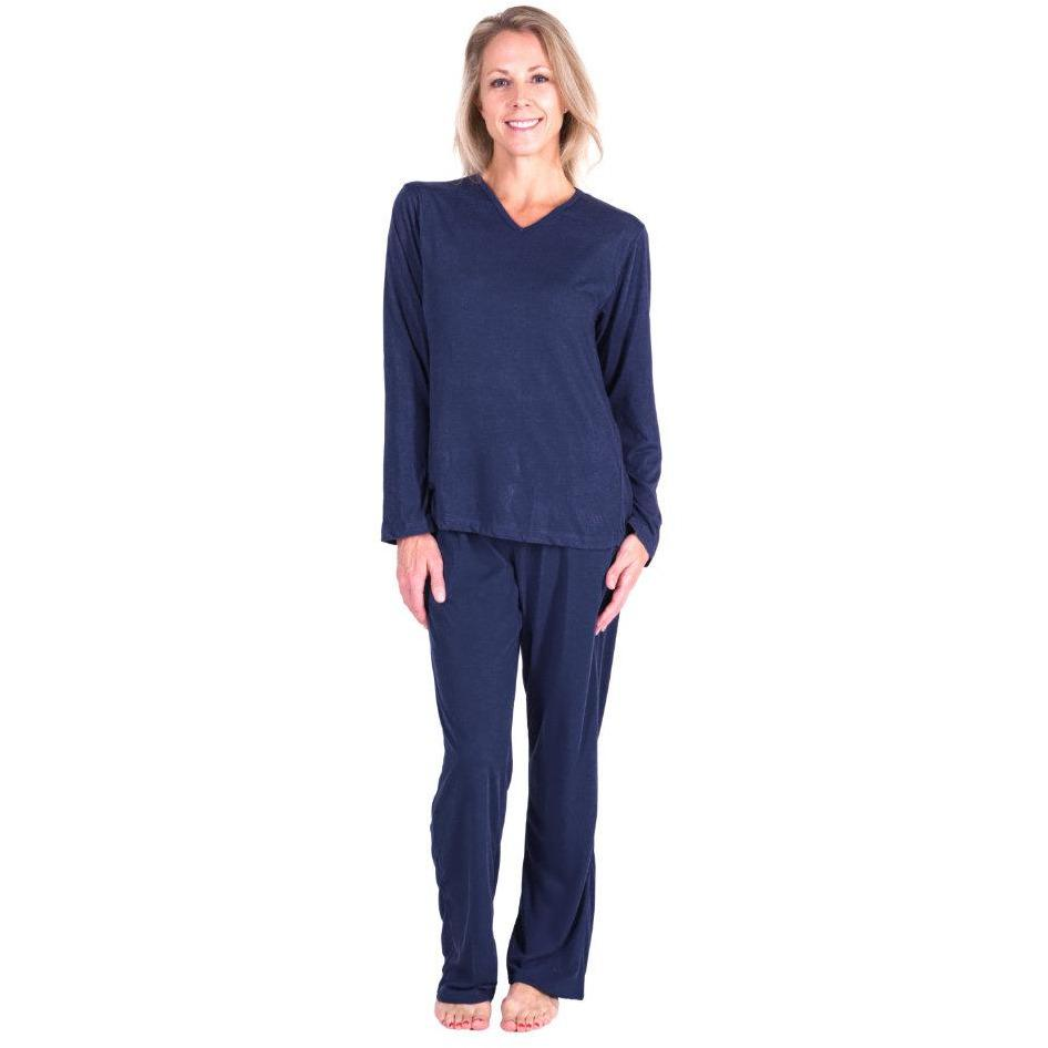 WOMEN'S MOISTURE WICKING LONG SLEEVE PAJAMA SET - Cool-jams