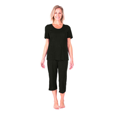 WOMEN'S MOISTURE WICKING SCOOP CAPRI PAJAMA SET - Cool-jams