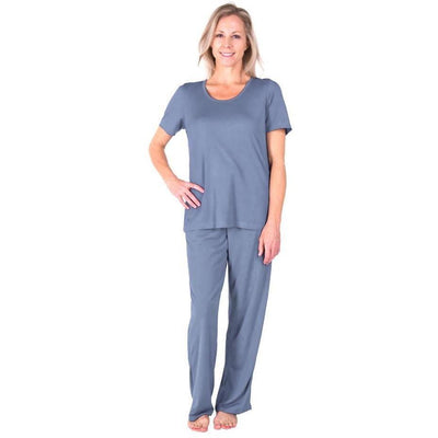WOMEN'S MOISTURE WICKING SCOOP NECK PAJAMA SET-DRAWSTRING PANT - Cool-jams