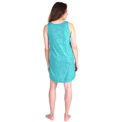 WOMEN'S MOISTURE WICKING SCOOP NECK SHORT TANK NIGHTGOWN - Cool-jams