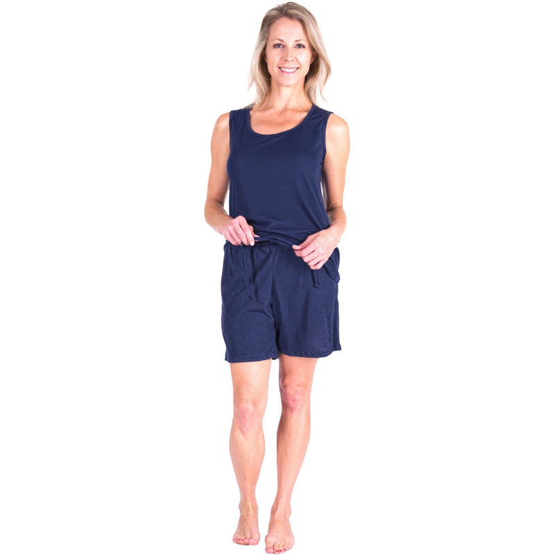 WOMEN'S MOISTURE WICKING SCOOP TANK SHORT SET - Cool-jams