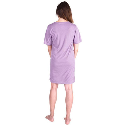 WOMEN'S MOISTURE WICKING V-NECK NIGHTSHIRT - Cool-jams