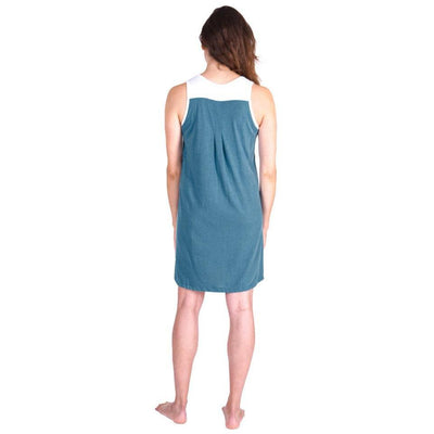 WOMEN'S PLEATED FRONT MOISTURE WICKING SLEEVELESS NIGHTGOWN - Cool-jams