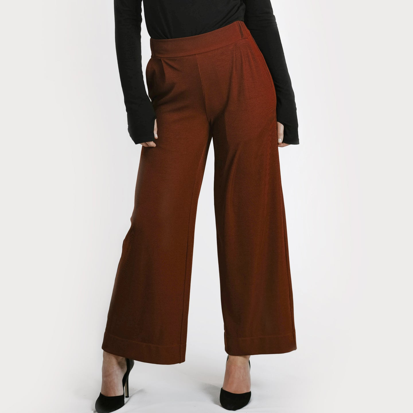 Widelegged pant - rusty red