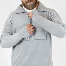 Last inn bildet i Galleri-visningsprogrammet, Fleece pullover - light gray