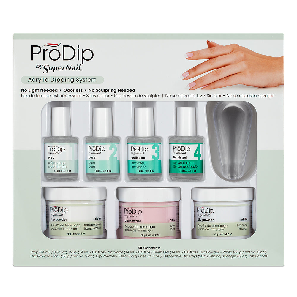 ProDip by SuperNail Nail Dipping System (7 Piece Professional Kit) – Le Beauty