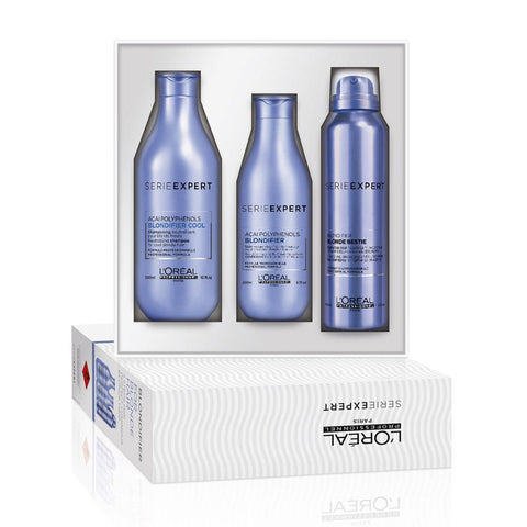 L'Oreal Professionnel Blondifier Trio Pack (Shampoo, Conditioner and Hair Spray)