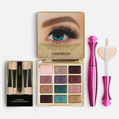Mirenesse 20th Anniversary Eyeshadow Palette 3PC Kit - Solid Gold