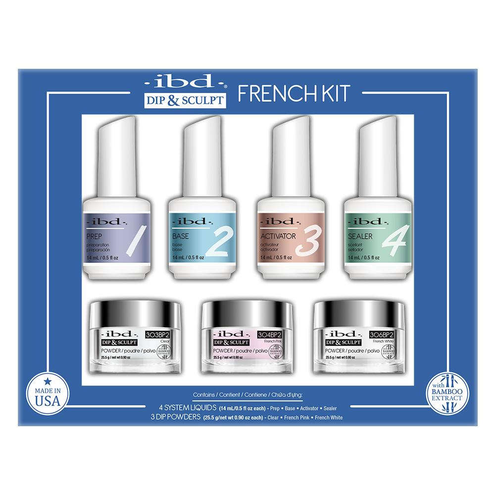IBD Dip & Sculpt French Kit - Dip Powder Starter System (7 Piece) – Le Beauty