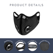 Protective Reusable Face Mask with 3 Bonus PM2.5 Filters