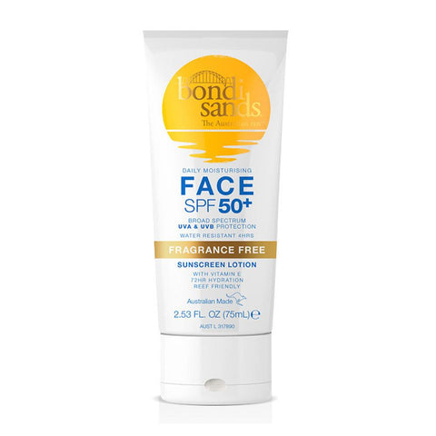 Bondi Sands Face Sunscreen Lotion SPF 50+ (75ml)