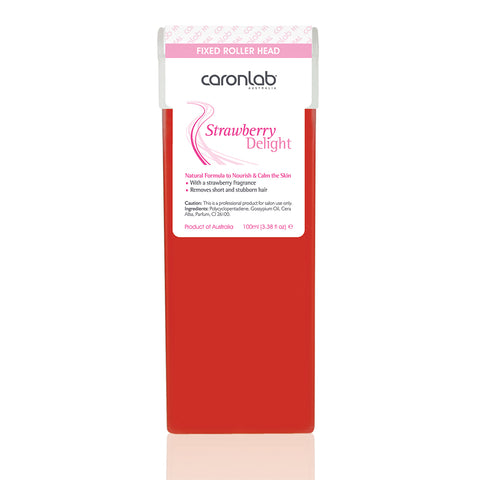 Caronlab Strawberry Delight Strip Wax Cartridge Fixed Head (100ml)