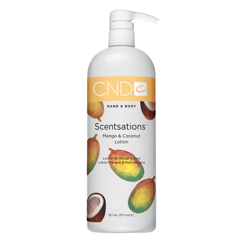 CND Hand & Body Scentsations Lotion - Mango & Coconut (917ml)