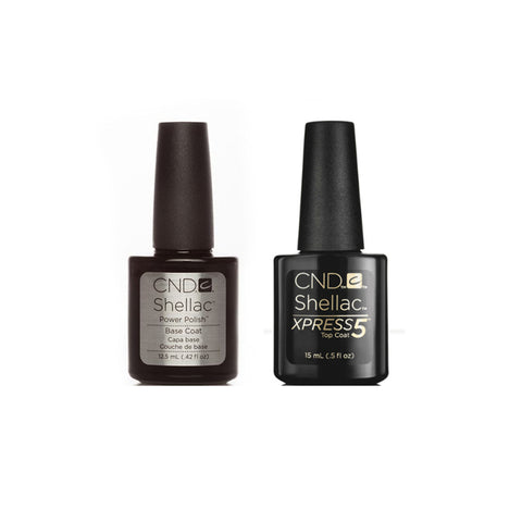 CND Shellac Base Coat (12.5ml) & Xpress5 Top Coat (15ml) Pack