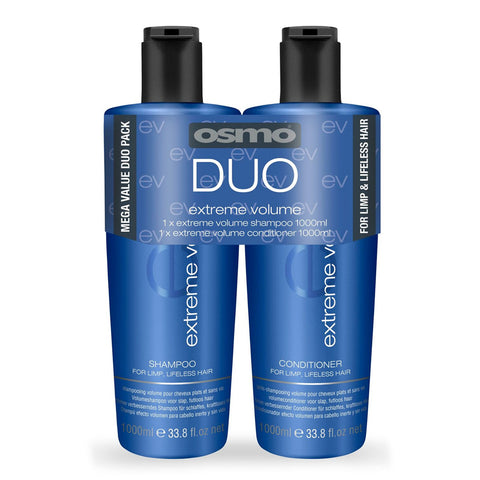 OSMO Extreme Volume Shampoo and Conditioner - Duo Hair Pack (1 Litre)