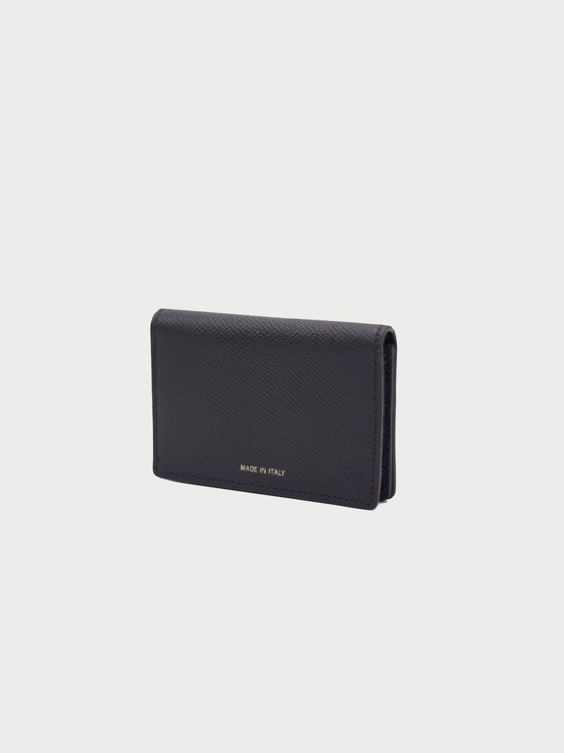 Card Case Black Back [Equestrian Fashion, Card Holder, Natural Leather Wallet, BlackCard Case]