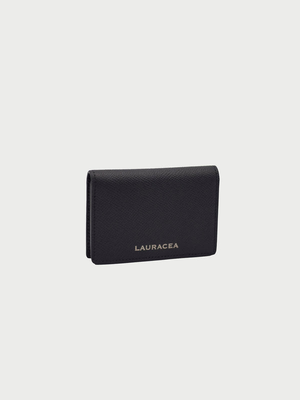 Card Case Black Front Side [Black Leather, Equestrian Accessories, Credit Card Case, Premium Quality]