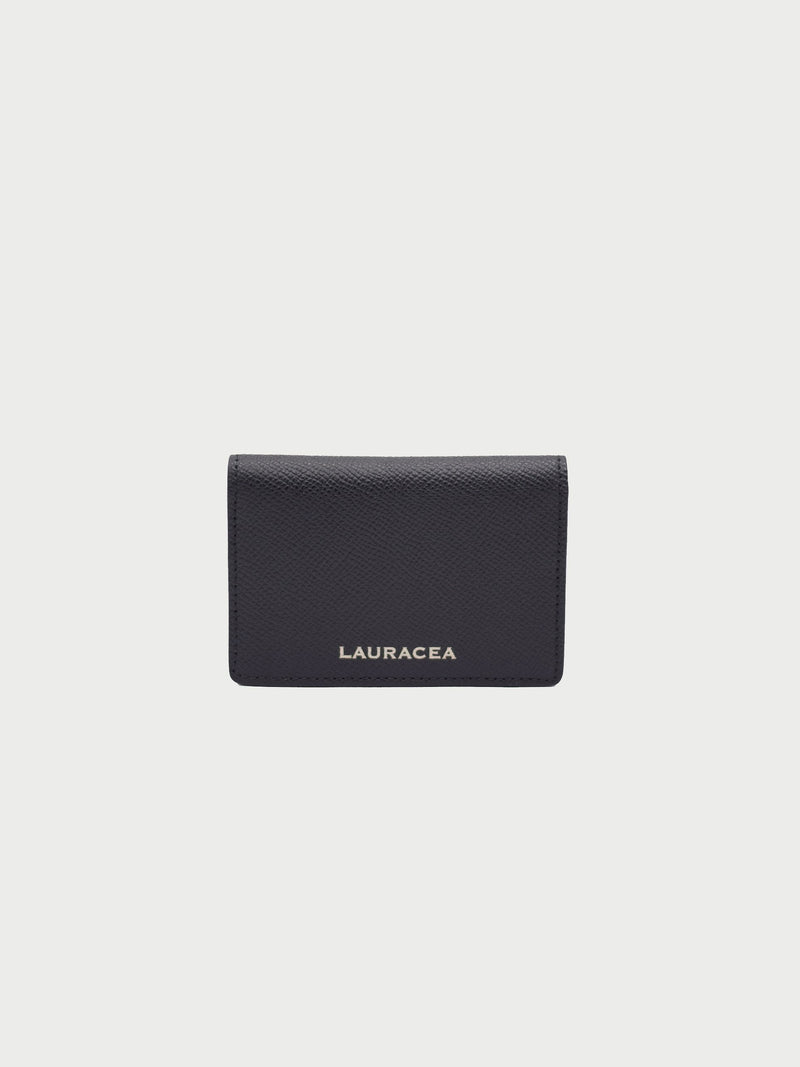 Card Case Black Front [Card Case, Small Leather Good, Small Wallet, Designer Fashion Wallet]