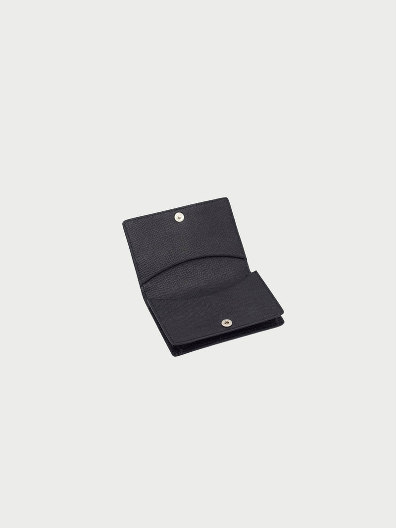 Card Case Black Open [Fashionable, Leather Accessories, Womens Card Holder, Equestrian]