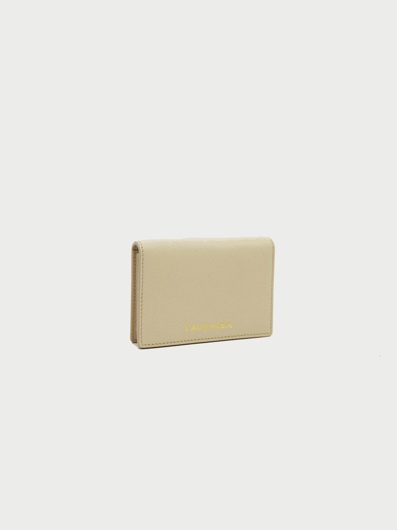 Card Case Bone Front Side [Ivory Leather, Classic Wallet, Credit Card Case, Premium Quality]