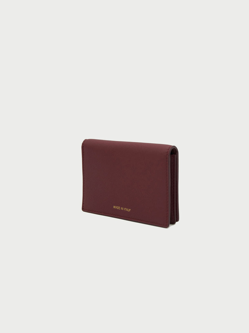 Card Case Merlot Back [Equestrian Fashion, Purse, Leather Goods, Burgundy Card Case]
