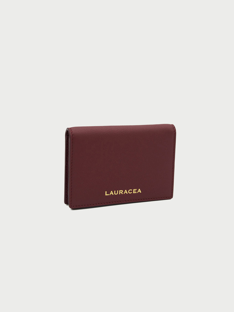 Card Case Merlot Front Side [Merlot Leather, Fashionable, Credit Card Case, Premium Quality]