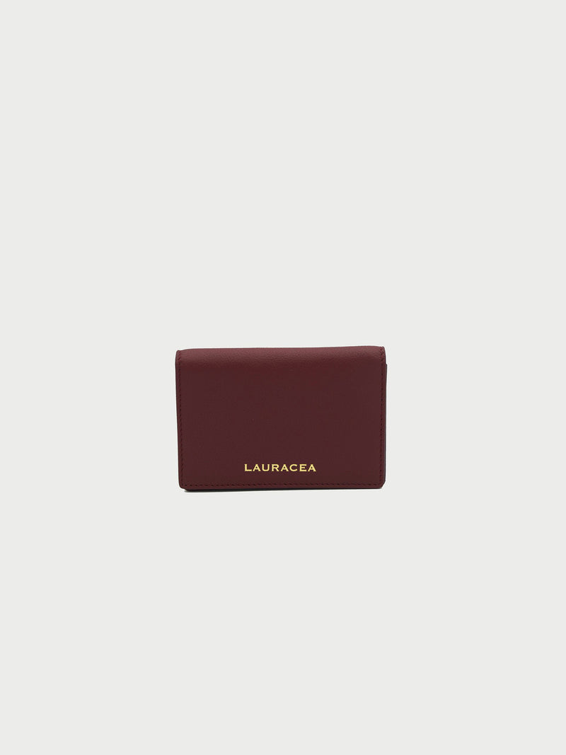 Card Case Merlot Front [Card Case, Small Leather Good, Small Wallet, Fashion Accessory]