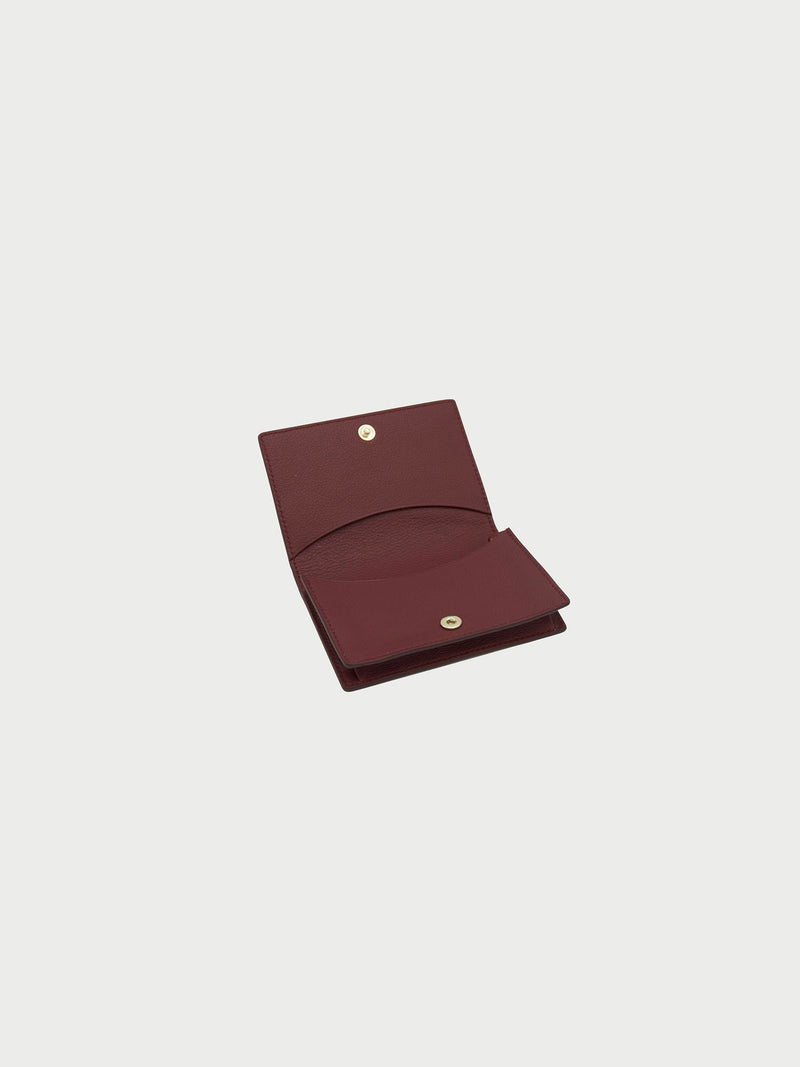 Card Case Merlot Open [Equestrian Accessories, Leather Accessories, Womens Wallet, Equestrian]