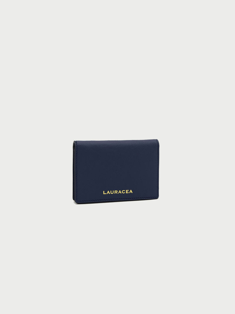 Card Case Navy Front Side [Navy Leather, Fashionable, Credit Card Case, Premium Quality]
