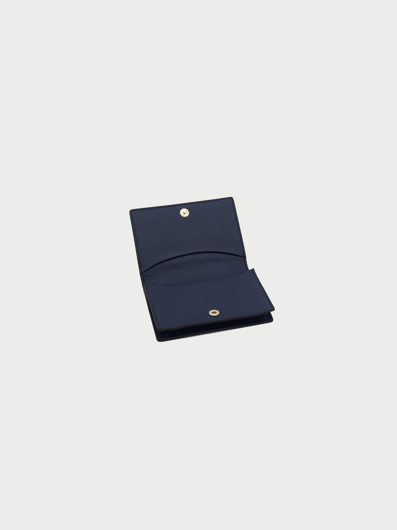 Card Case Navy Open [Equestrian Accessories, Leather Accessories, Womens Card Holder, Equestrian]