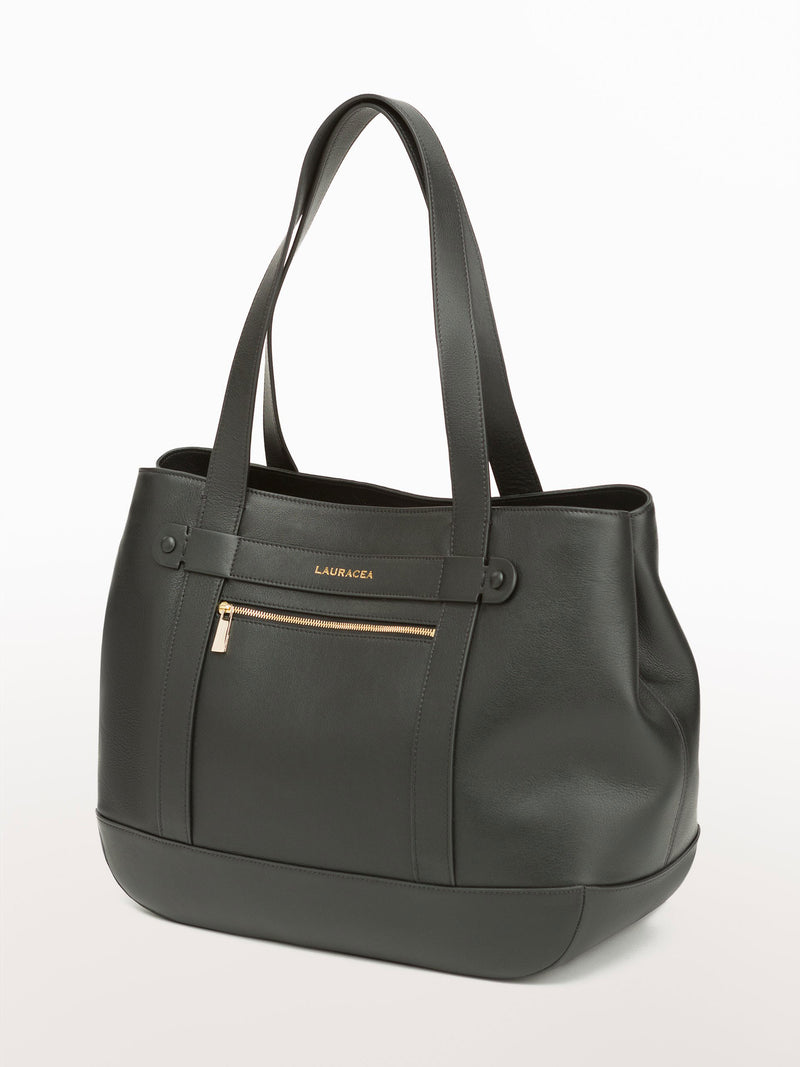 Classic Tote Black [Equestrian Fashion,Carryall bag, Purse, Leather Goods, Purse]