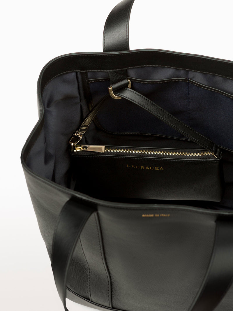 Classic Tote Black [Purse with Pockets, Functional Purse, High Quality, Weekend Bag]