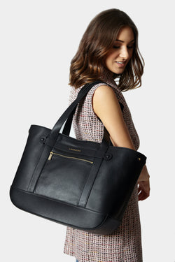 Classic Tote Black [Classic Tote, Handbag, Leather Purse, Tote]