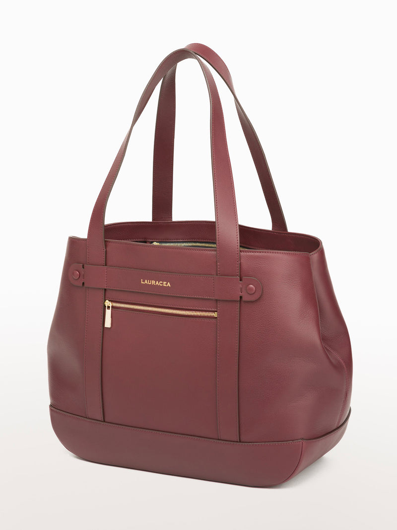 Classic Tote Merlot [Equestrian Fashion,Carryall bag, Purse, Leather Goods, Purse]