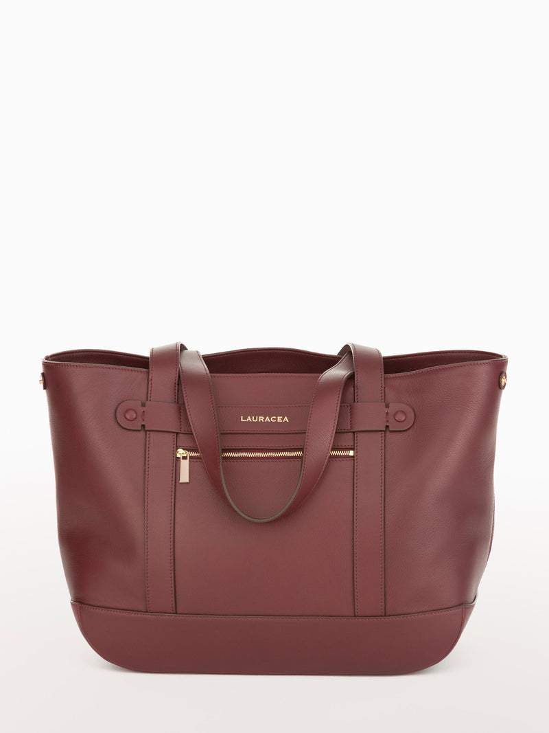 Classic Tote Merlot [Carry-on, Equestrian, Burgundy Leather, Premium Quality]