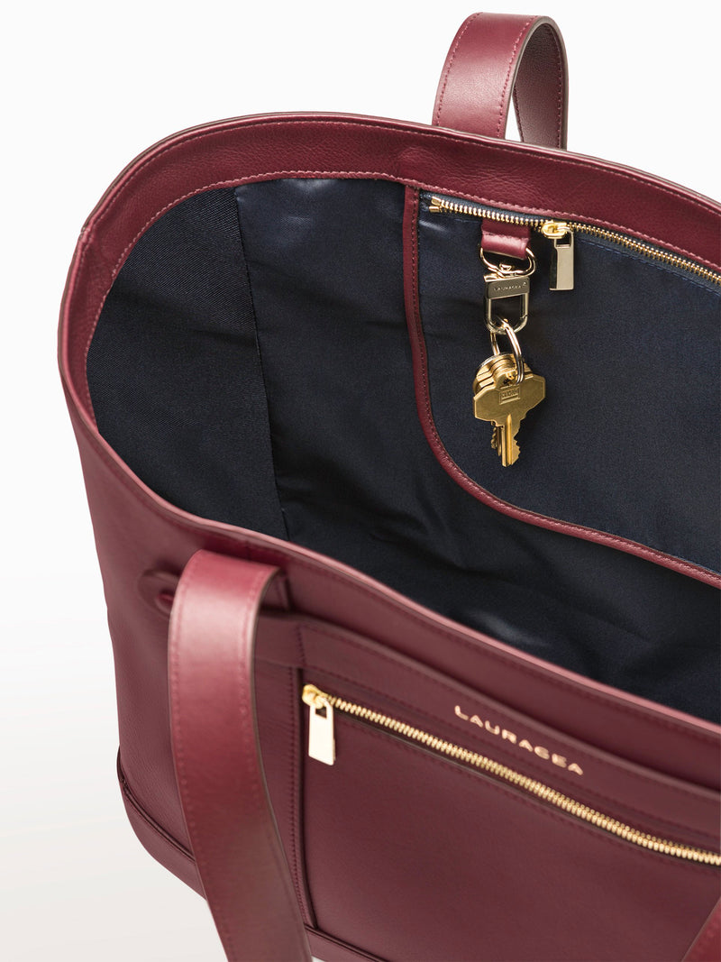 Classic Tote Merlot [Luxury Accessory, Fashion, Functional]