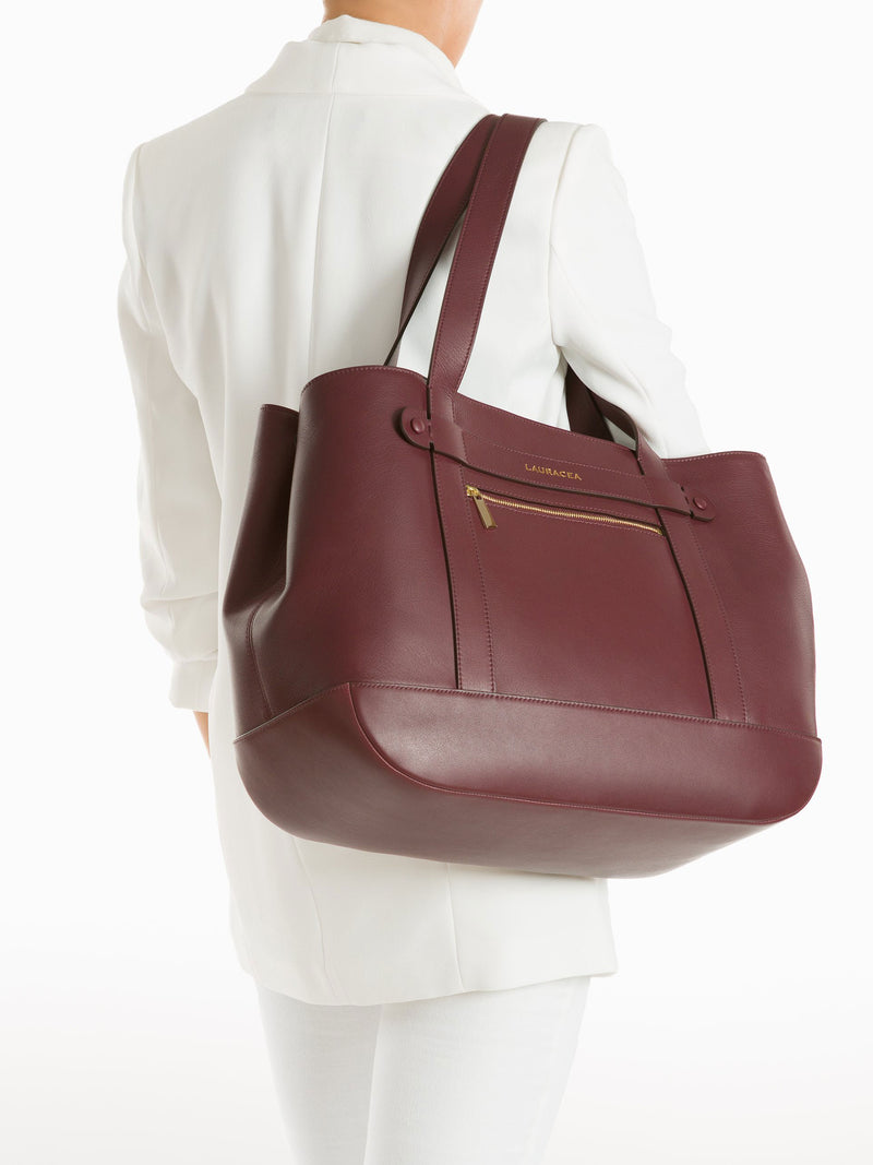Classic Tote Merlot [Totebag, Italian Leather, Timeless Design, Classic]