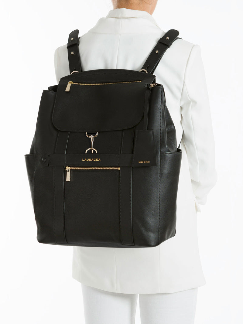 Convertible Backpack Tote Black Calf [Leather Accessory, Leather Key Ring, Leather Luggage]