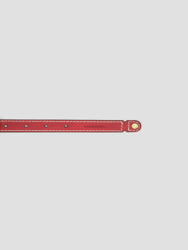 Dog Kit Red [Leather Puppy Collar, Simple Collar]