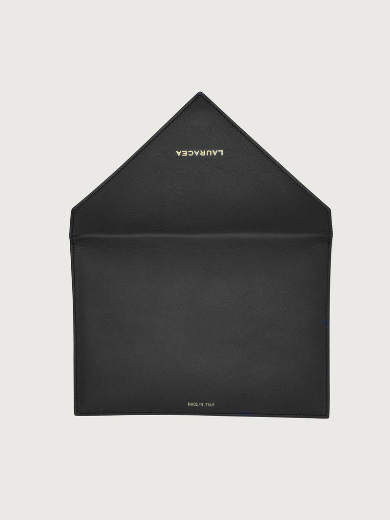 Envelope Black [High Quality Clutch, Leather Wallet, Small Black Wallet, Clutch Bag]
