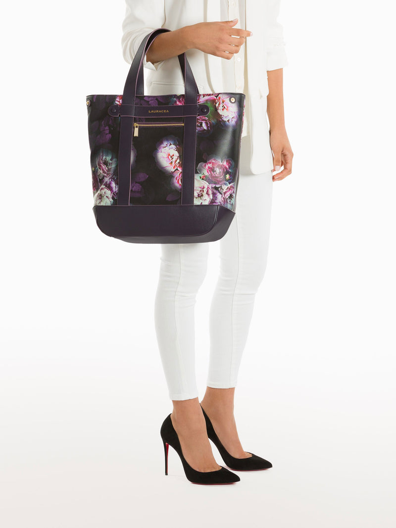 Hampton Shopper Black Peony [Craftsmanship, Artisan, Horse Show, Timeless Accessory]