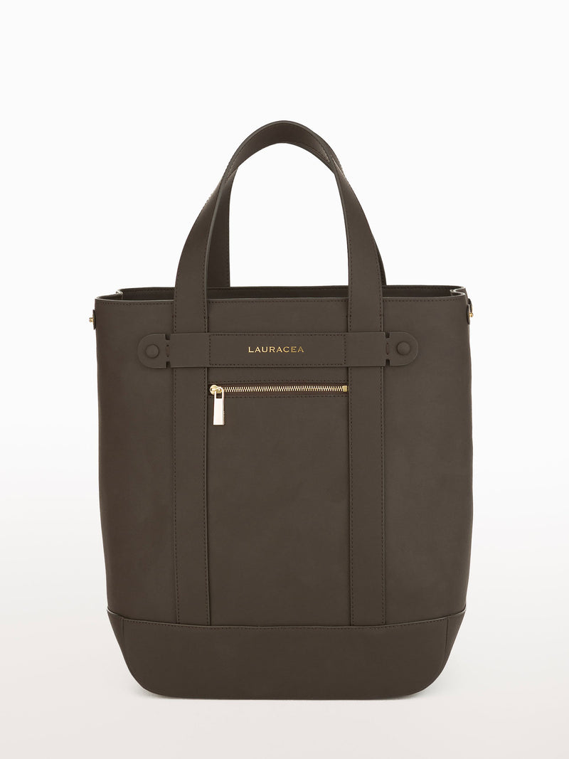 Hampton Shopper Chocolate Matte [Carryall Leather Bag, Brown Purse, Leather Weekend Bag]