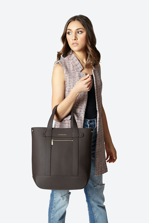 Hampton Shopper Chocolate Matte [Hampton Shopper, Hampton Bag, Market Bag, Totebag]