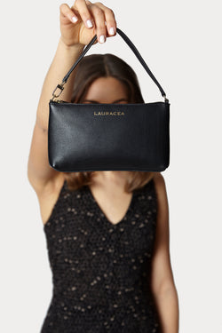 Mini Black Calf [Leather Mini, Clutch, Small Purse, Handbag]