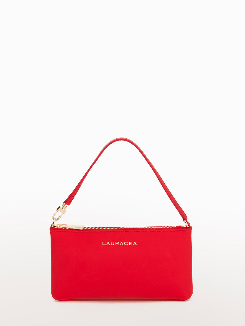 Mini Ferrari Matte [Small Leather Bag, Matte Leather Purse, Red Leather Clutch]